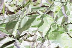 Wrinkled foil Stock Photos