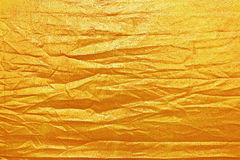 wrinkled gold texture for background and design Royalty Free Stock Photo