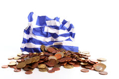 Wrinkled Greek flag Royalty Free Stock Photo