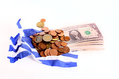Wrinkled Greek flag Royalty Free Stock Photos