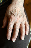 wrinkled hand Royalty Free Stock Photography