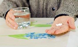 Wrinkled hands stock images