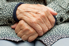 Wrinkled hands Royalty Free Stock Photography