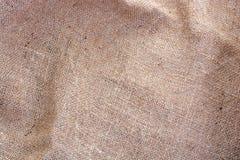 Wrinkled Hessian sack cloth or gunny sack. Selective focus Royalty Free Stock Photos