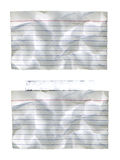 Wrinkled Index Cards. With and without taped Stock Images