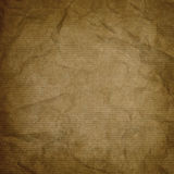 Wrinkled kraft paper texture or background Royalty Free Stock Image