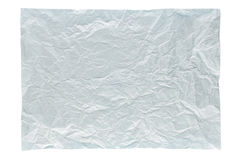 Wrinkled light blue page stock photography