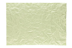 Wrinkled light green page royalty free stock image