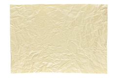 Wrinkled light yellow page royalty free stock photography
