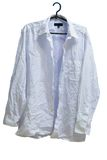 Wrinkled male white laundered shirt on hanger Stock Images