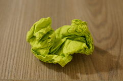 Wrinkled napkin Stock Image
