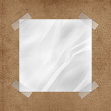Wrinkled Note on Cork board Royalty Free Stock Photo