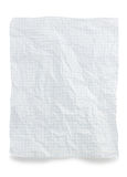 Wrinkled note paper on white Royalty Free Stock Photography