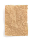 Wrinkled note paper on white Royalty Free Stock Images