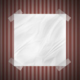 Wrinkled Note on wall Royalty Free Stock Photos