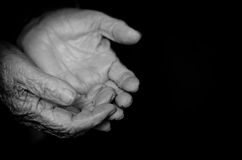 Wrinkled old hands Royalty Free Stock Image