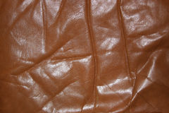 Wrinkled old leather Stock Images
