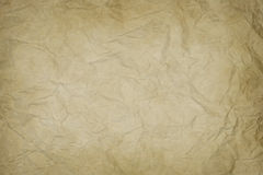 Wrinkled old paper texture Stock Image