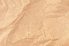 Wrinkled packaging paper background Stock Images