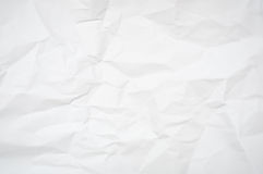 Wrinkled Paper. Abstract Background - White Blank Wrinkled Paper Texture Royalty Free Stock Photo