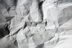 Wrinkled paper. Detail of wrinkled paper background Stock Photo