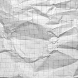 Wrinkled paper. Wrinkled white paper close up Stock Photo