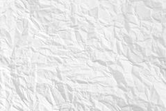 Wrinkled paper background texture. Wrinkled white paper background texture royalty free stock image