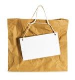 Wrinkled  paper bag Stock Images