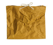 Wrinkled paper bag. Royalty Free Stock Photo
