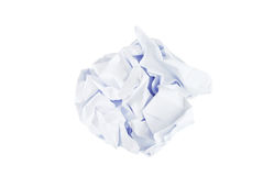 Wrinkled paper ball isolated Royalty Free Stock Photography