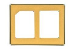 Wrinkled paper on cork board Stock Image