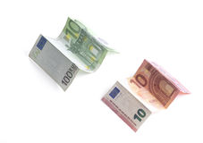 Wrinkled paper money. Euro. Stock Photography