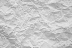 Wrinkled Paper Sheet. Wrinkled Empty Sheet of White Paper Royalty Free Stock Photos