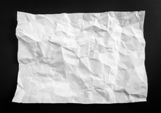 .Wrinkled paper texture background . Stock Photography