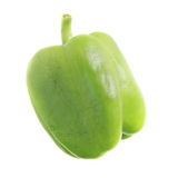 Wrinkled pepper isolated on white. Stock Images