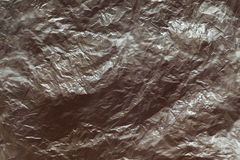 Wrinkled plastic foil Royalty Free Stock Photo