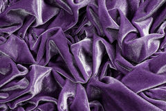 Wrinkled purple plush Royalty Free Stock Photography