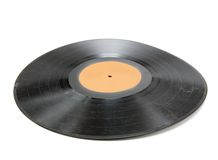 Wrinkled Record Royalty Free Stock Images