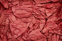 Wrinkled red paper as background Stock Photo