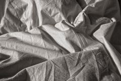 Wrinkled sheet Stock Images