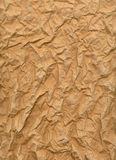 Wrinkled sheet of brown paper Royalty Free Stock Image