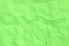 Wrinkled sheet of green paper Stock Photography