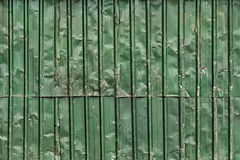 Wrinkled Sheet Metal Fence Stock Image