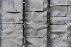 Wrinkled Sheet Metal Wall Stock Images