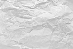 Wrinkled sheet paper white and empty space for text background. Royalty Free Stock Photography