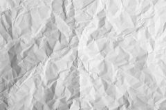 Wrinkled sheet of white paper Stock Photography
