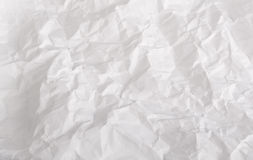 Wrinkled sheet of white paper  Stock Image