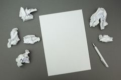 Wrinkled sheets around the whole new idea concept stock photos