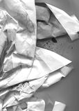 Wrinkled,smash paper. Very hight resolution. Geometric graffiti abstract background. stock photos