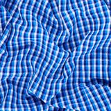 Wrinkled squared cloth fabric Stock Image
